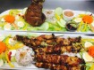 $5 per skewer & $28 Crispy Pata served with 1 cup rice & salad