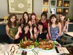 The gals with our famous Pinoy Banquet and Seafood Platter